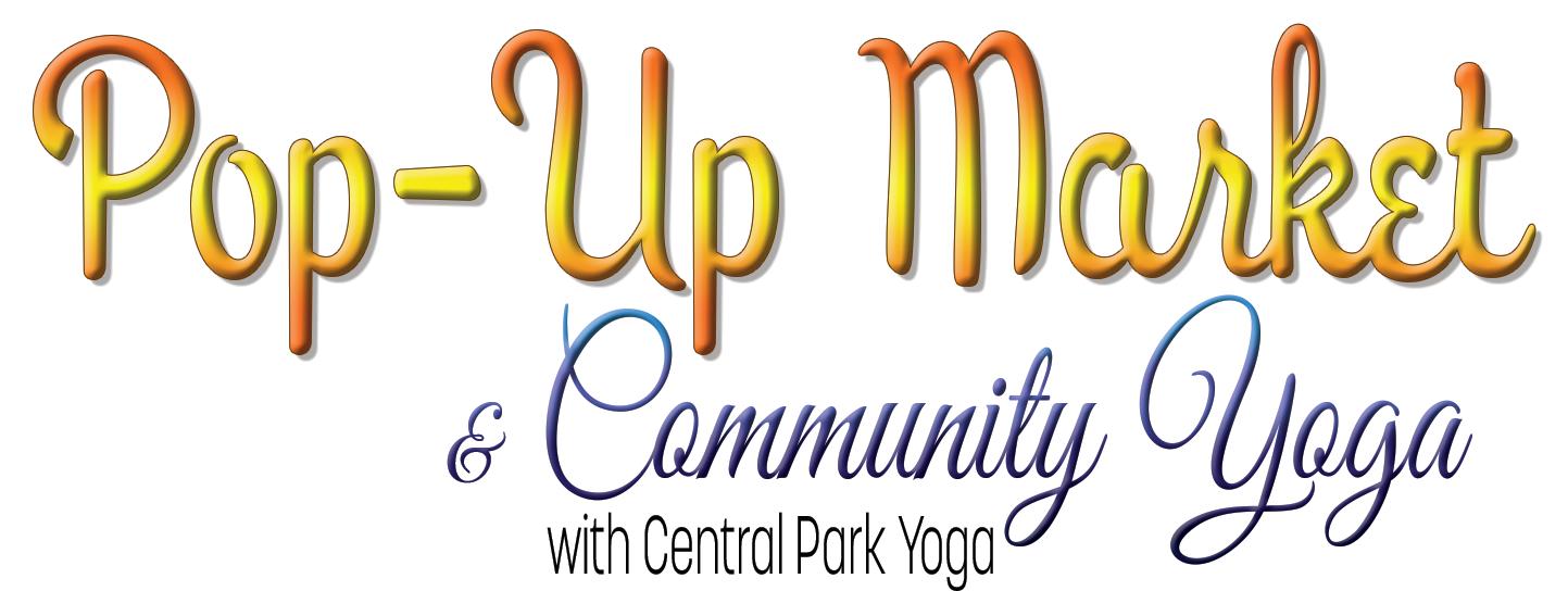 Pop up Market Logo w community yoga